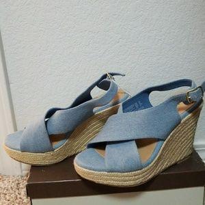 Summer blue wedges